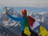 14 Gipfel Lobuche, im Hintergrund Ama Dablam