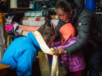 18 Familie von Chhring Sherpa in Khumjung